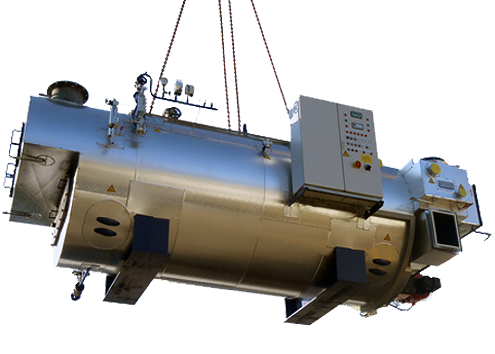 4-pass Hybrid Steam Boiler
